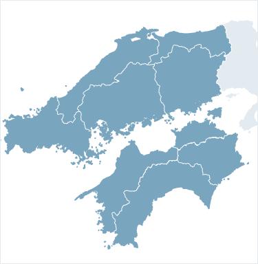 中国・四国地方の地図